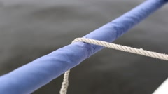 Fender tied by clove hitch Stock Footage