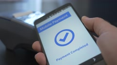 4K Mobile Payment At The Store Contactless Stock Footage