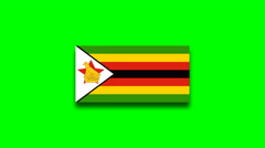 4K - Zimbabwe country flag Stock Footage