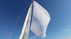 Incorrect configuration the spinnaker on a fair wind Stock Footage