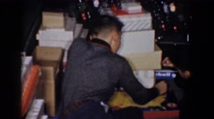1960: oh the joys of christmas morning. BEL AIR MARYLAND Stock Footage