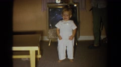 1965: little kids playing in the living room. FALLSTON MARYLAND Stock Footage