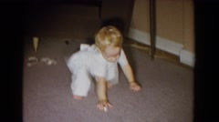 1965: little kids playing on the living room floor. FALLSTON MARYLAND Stock Footage