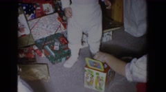 1965: jack in the box for christmas FALLSTON MARYLAND Stock Footage