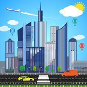 Urban earth concept. Vector illustration Stock Illustration