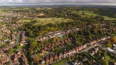 Aerial view of Bewdley train station. Stock Footage