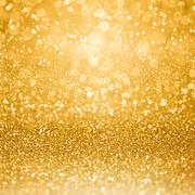 Gold Glam Golden Party Invitation Background Stock Photos