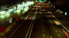 Busy highway in Ontario, Canada, 4k uhd Timelapse Stock Footage