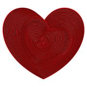 Heart shapes sequence in red and black colors Stock Illustration