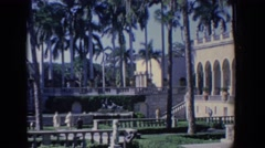 1958: a sighting of a beautiful, abstract building. FLORIDA Stock Footage