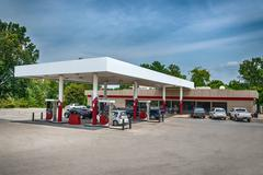 Generic Gasoline Station Convenience Store Stock Photos