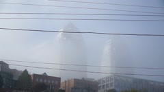 Towers in heavy fog Stock Footage