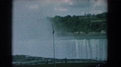 1958: massive waterfall of wonder. NIAGARA FALLS NEW YORK Stock Footage