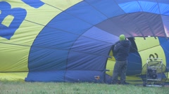 Air Injection Blower Balloon. Flight Training Stock Footage