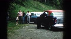 1958: family socializing with the black bear. SOUTH CAROLINA Arkistovideo