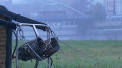 Basket of the Balloon Burners. Before the Start of the Balloon. Stock Footage