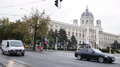 VIENNA, AUSTRIA - October 12,2016. View of city's life - view of Stock Footage
