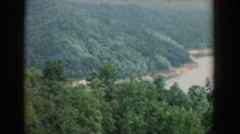 1958: scenery of river flowing SOUTH CAROLINA Arkistovideo