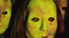 Projection face sparkles bokeh burst Stock Footage