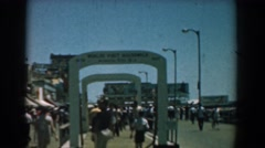 1958: people out walking, enjoying the sunny day. YORKTOWN VIRGINIA Stock Footage