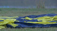 Balloon Laid Out on the Ground to Inflate Preparation Stock Footage
