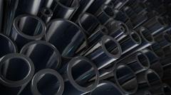 Metal steel pipes Stock Footage