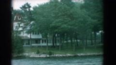 1958: view of the riverside YORKTOWN VIRGINIA Stock Footage