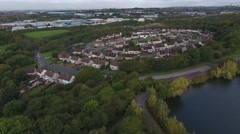 Aerial view of a housing estate. Stock Footage