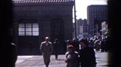 1958: people casually walking on the street. YORKTOWN VIRGINIA Stock Footage