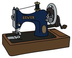 Retro sewing machine Stock Illustration