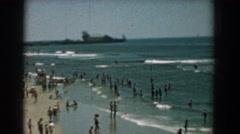 1958: camera pan along a busy shoreline YORKTOWN VIRGINIA Stock Footage