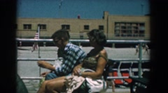 1958: three people hanging out together talking and laughing YORKTOWN VIRGINIA Stock Footage