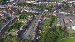 Tilting aerial view of Birmingham, West Midlands, UK. Stock Footage