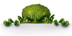 Monster Peeking Stock Illustration