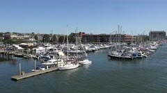 Constitution Marina from the Charlestown Bridge in Boston, MA. Stock Footage