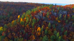 Amazing Autumn scenery, forests and cliffs, Fall colors, Aerial view Stock Footage
