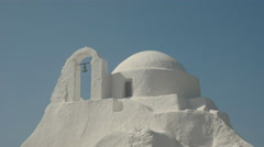 Close up of the panagia paraportiani church on the greek island of mykonos Stock Footage