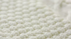 White knitted wool texture. use as background. close-up Stock Footage