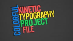 Kinetic Typography Stock After Effects