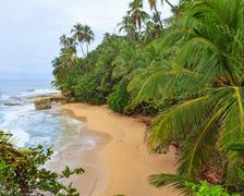 Idyllic beach Manzanillo Costa Rica Stock Photos