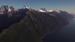 Alaska Coast Range Aerial Stock Footage