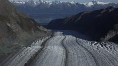Davidson Glacier Flowing to the Sea Aerial Stock Footage