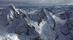 Icy Alaskan Pyramids Glacier Aerial Stock Footage