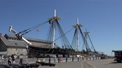 The USS Constitution, Boston National Historical Park, MA. Stock Footage