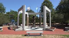 The Massachusetts Korean War Memorial, Boston, MA. Stock Footage
