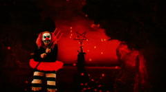 Clown from hell Stock Footage