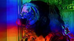 Clown hallucination hallucinate nightmare Stock Footage