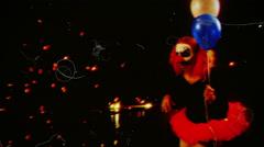 Clown nightmare bmovie horror Stock Footage