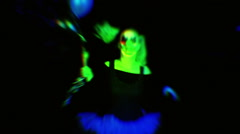 Neon clown juggalo creepy horror Stock Footage