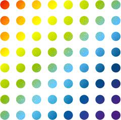 Abstract multicolored circles vector background Stock Illustration